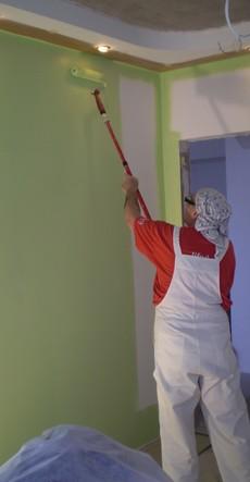 малярные работы потолок