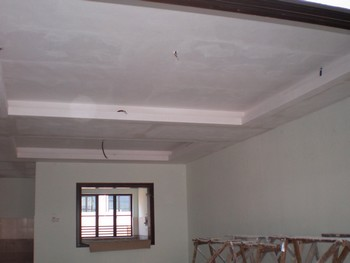Шпаклевка потолка в зале