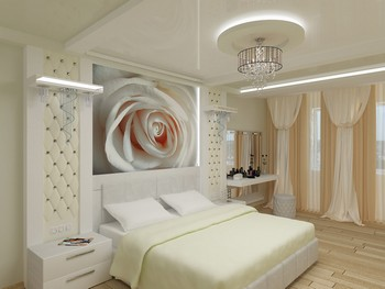 Ремонт напольного покрытия в спальной комнате