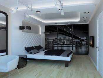 Ремонт стен в спальной комнате