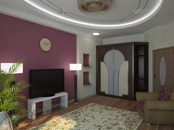 гостиная комната ремонт