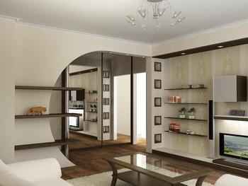 ремонт современной гостиной