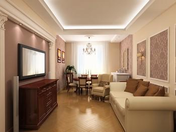 косметический ремонт в зале (гостиной)