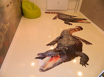 Наливные 3D полы в детской комнате
