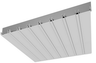 Реечные потолки монтаж